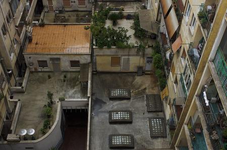 run down: Apartment Buildings, Rome, Italy