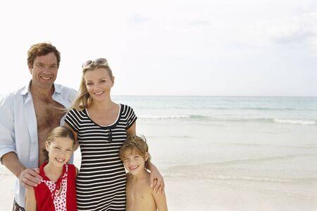 oceanic: Portrait of Family on Beach, Majorca, Spain