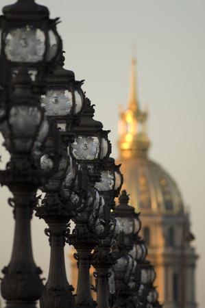 street lamp: Pont Alexandre, Paris, France