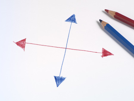 Drawn Arrows and Colored Pencils