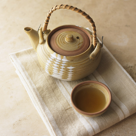 Still Life of Japanese Teapot with Tea LANG_EVOIMAGES
