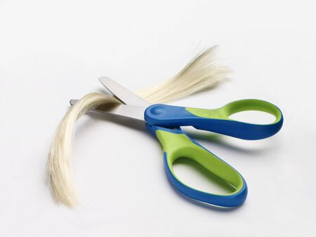 Childrens Scissors with Lock of Hair