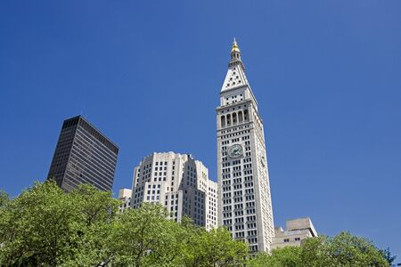 View of Met Life Tower From Madison Square Park, New York City, New York, USA