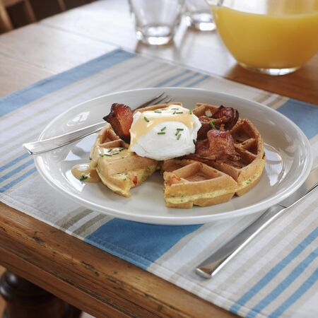Waffles and Eggs Benedict LANG_EVOIMAGES
