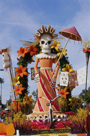 rose bowl parade: Rose Bowl Parade Float, Pasadena, California, USA