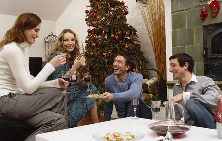 socialise: Friends Celebrating Christmas