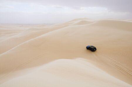 Jeep on Dune, Libyan Desert, Egypt LANG_EVOIMAGES