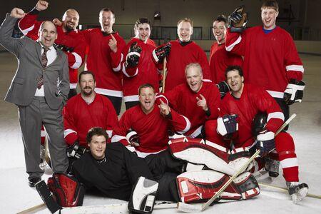 expressing: Portrait of Hockey Team LANG_EVOIMAGES