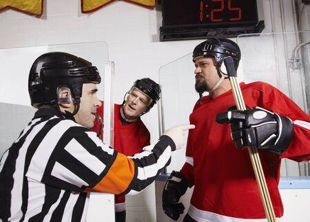 disapprove: Referee Penalizing Hockey Players