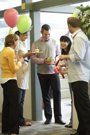 socialise: Business People Celebrating Birthday