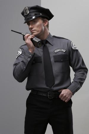 Security Guard using Walkie Talkie