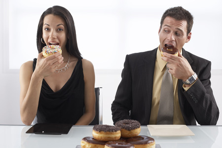comparable: People Eating Doughnuts