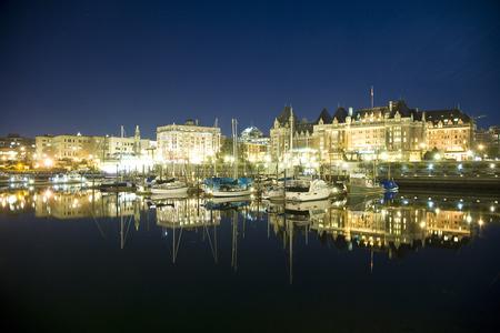 provincial tourist area: Inner Harbour at Night, Victoria, British Columbia, Canada