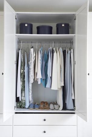 Organized Interior of Womans Closet