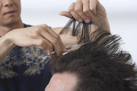 Man at Hair Salon