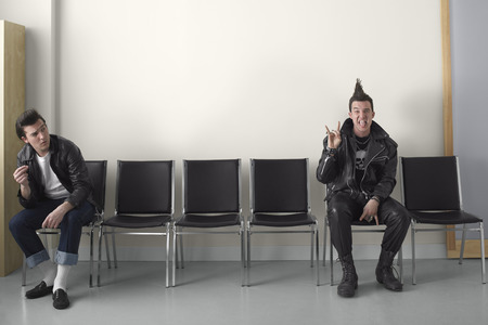 Rebel and Punk in Waiting Area