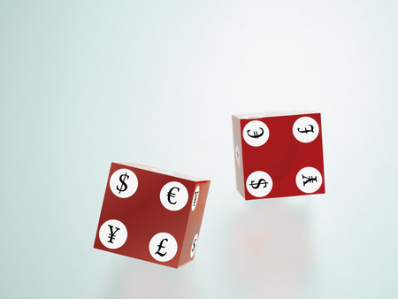 goodluck: Cubes Displaying International Currency Symbols