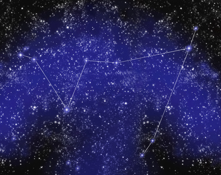 Outline of Constellation of Capricorn in Night Sky LANG_EVOIMAGES