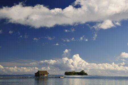 oceanic: Hut on Pier, Raiatea, French Polynesia LANG_EVOIMAGES