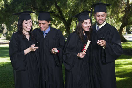 achievment: College Graduates with Cellular Phones