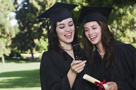 achievment: Graduates with Cellular Phone LANG_EVOIMAGES