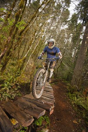 Mountain Biker Blackrock Mountain Bike Park Near Salem Oregon