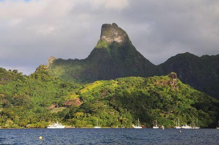 Cooks Bay and Mount Tearai, Moorea, French Polynesia