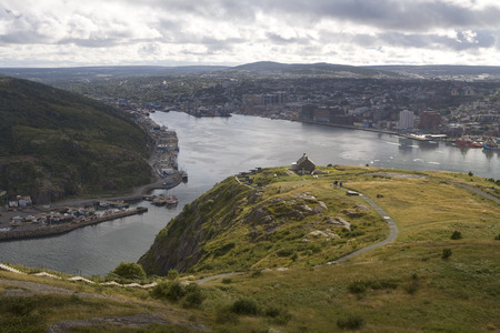provincial tourist area: St Johns Harbour from Signal Hill, Newfoundland, Canada LANG_EVOIMAGES