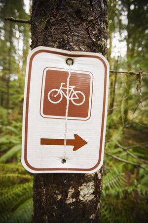 Mountain Biking Trail Sign At Blackrock Mountain Bike Park Near