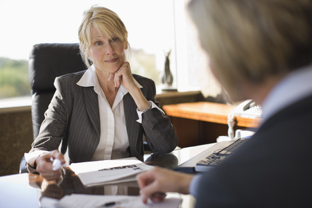 Businesswoman Meeting with Coworker