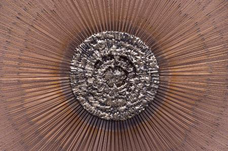 Close-up of Metallic Art, Sante Fe, New Mexico, USA