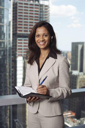 Businesswoman with Agenda