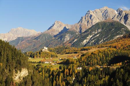 Forest and Mountains, Piz Lischana, Scuol, Switzerland