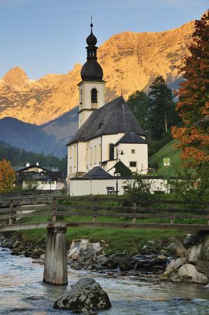 Church in Mountains, Ramsau, Bavaria, Germany