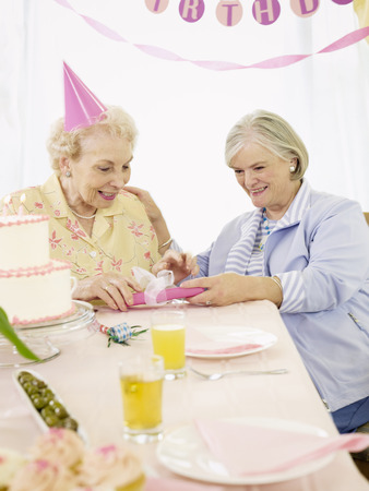 Birthday Party at Retirement Home