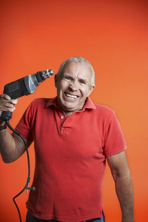 Angry Man With Power Drill