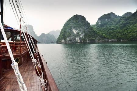 Boat, Gulf of Tonkin, Halong Bay, Quang Ninh Province, Vietnam
