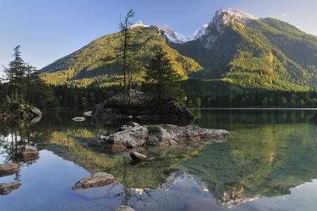 Lake and Mountains, Ramsau, Bavaria, Germany
