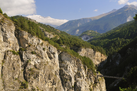 Overview of Gorge, Rhone-Alpes, France