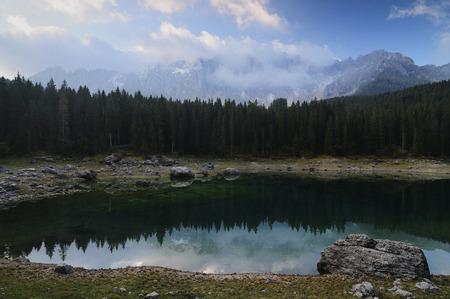 Carezza Lake, Dolomites, South Tyrol, Italy