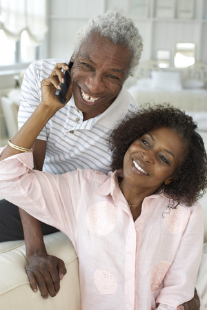 Portrait of Couple With Cell Phone