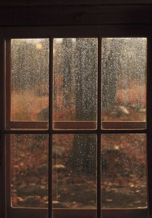 without windows: Rain on Window, Ontario, Canada