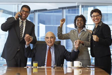 Business People Cheering LANG_EVOIMAGES