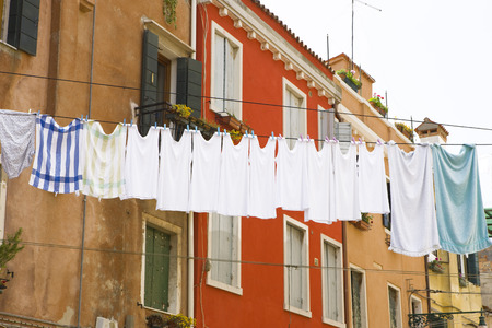 without windows: Clothes Line, Venice, Veneto, Italy LANG_EVOIMAGES