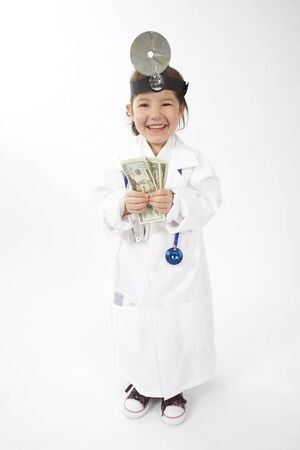 vocational high school: Girl Dressed as Doctor
