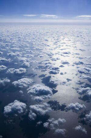 oceanic: Aerial View of Clouds and Blue Sky Over Pacific Ocean