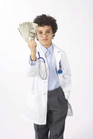 vocational high school: Boy Dressed as Doctor