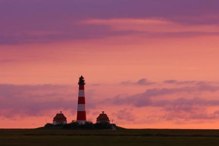 westerhever: Westerhever Lighthouse, Schleswig-Holstein, Germany