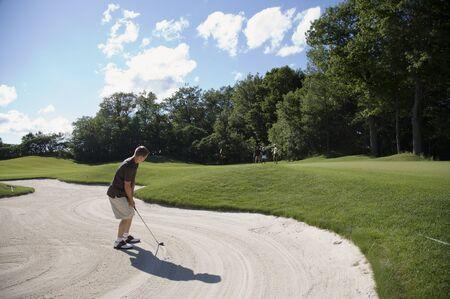daughter in law: Man in Sand Trap, Burlington, Ontario, Canada