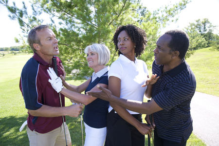 glower: Women Trying to Break Up Fight Between Golfers